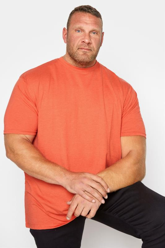 Men's  KAM Orange Plain T-Shirt