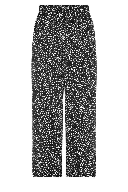 THE LIMITED EDIT Black Speckled Print Wide Leg Trousers_F.jpg