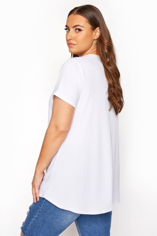 LIMITED COLLECTION White Ribbed Swing T-Shirt_C.jpg