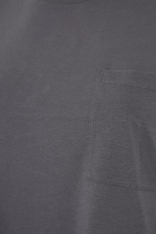 Grey Pocket Dipped Hem T-Shirt_S.jpg