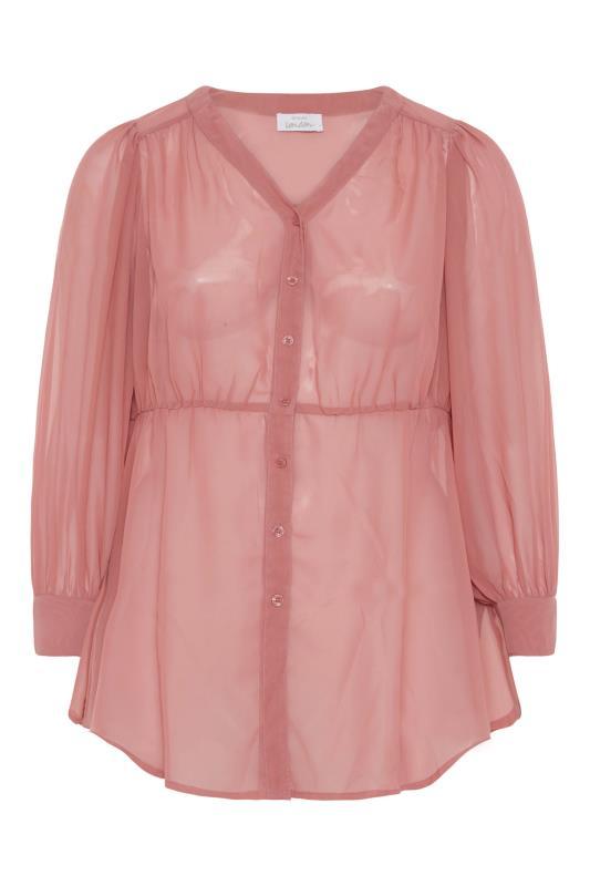 YOURS LONDON Pink Peplum Blouse_F.jpg
