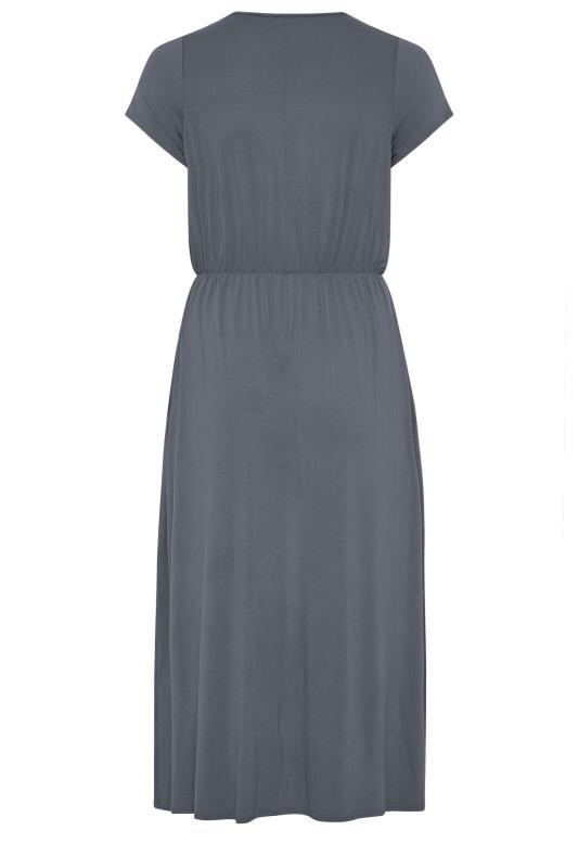 YOURS LONDON Grey Pocket Maxi Dress_BK.jpg
