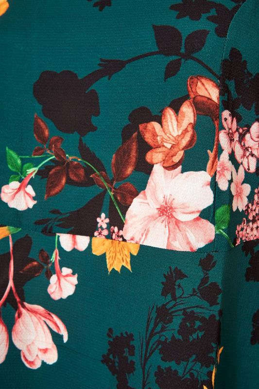 YOURS LONDON Green Floral Midi Dress_S.jpg