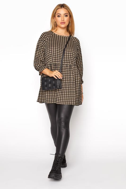 LIMITED COLLECTION Natural Gingham Smock Top_B.jpg