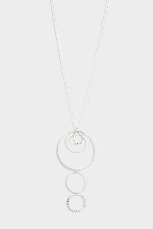 Silver Long Hoop Necklace