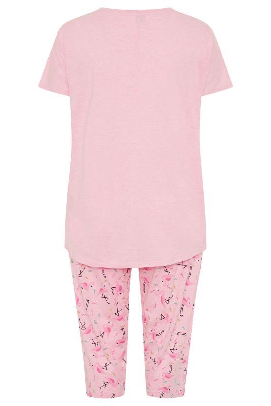 Pink Flamingo Printed Cropped Pyjama Set_BK.jpg