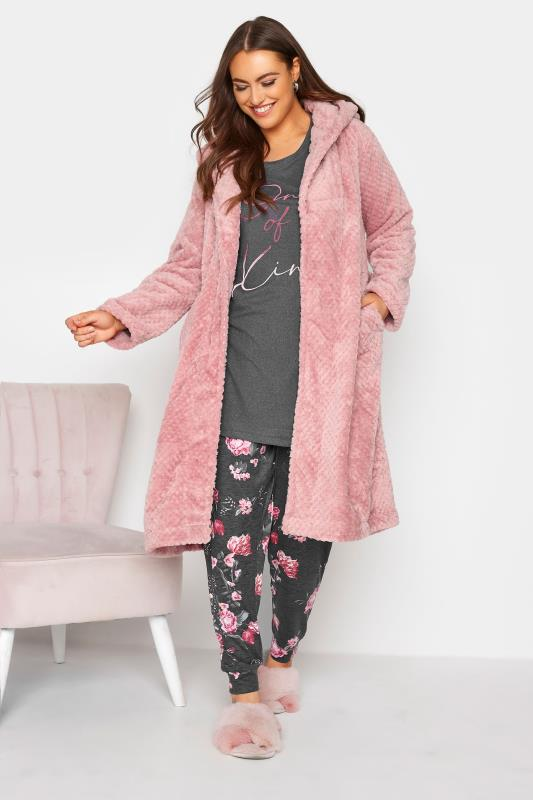 Pink Waffle Hooded Dressing Gown_B.jpg