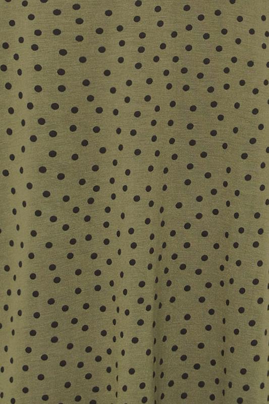 LTS Khaki Polka Dot Print T-Shirt_S.jpg