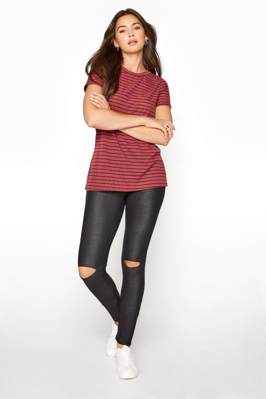 LTS Black Ripped Knee Jersey Jeggings