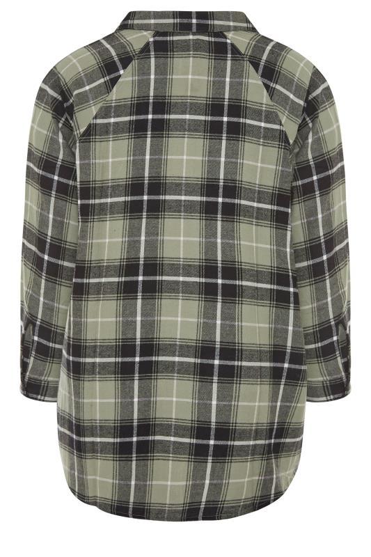 Khaki Check Raglan Boyfriend Shirt_K.jpg