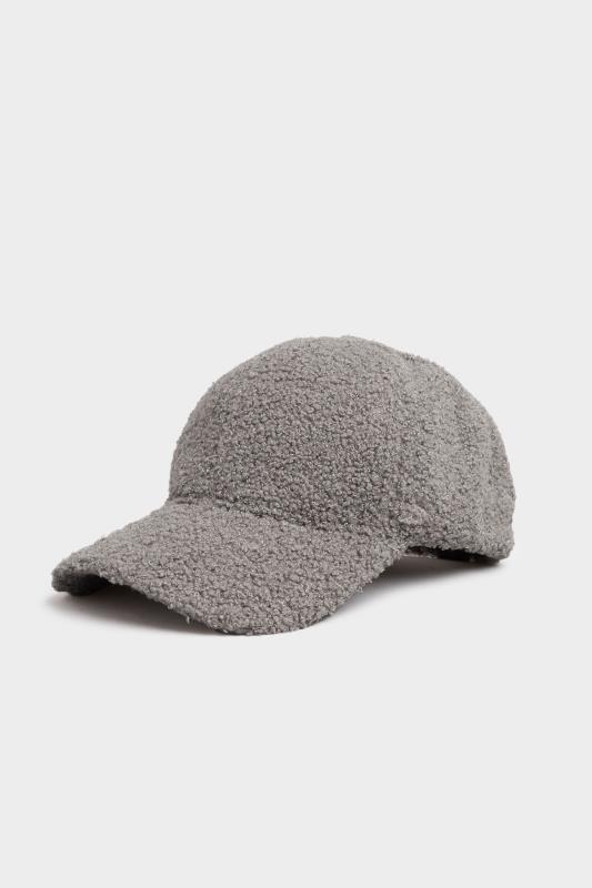 Grey Shearling Cap