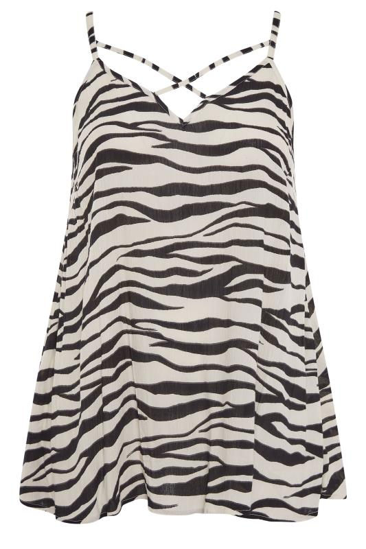 LIMITED COLLECTION Cream & Black Zebra Strappy Swing Cami_F.jpg
