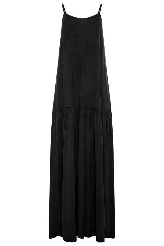 LTS Black Strappy Drop Waist Maxi Dress_F.jpg