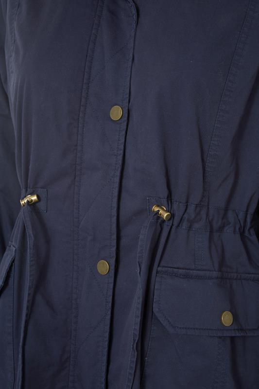 Navy Faux Fur Trim Hooded Parka_S.jpg