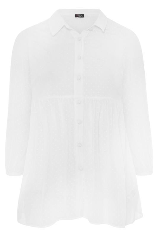 White Peplum Dobby Chiffon Shirt_F.jpg