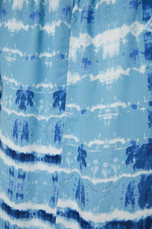 Blue Tie Dye Gathered Gypsy Tunic_S.jpg