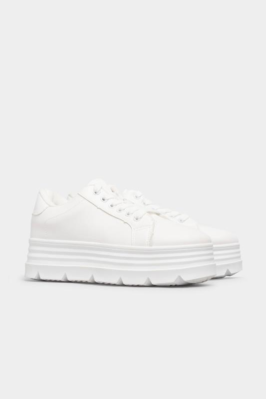 LIMITED COLLECTION White Platform Chunky Trainers In Regular Fit_B.jpg
