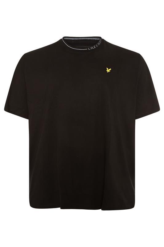 LYLE & SCOTT Black Branded Ranger T-Shirt_F.jpg