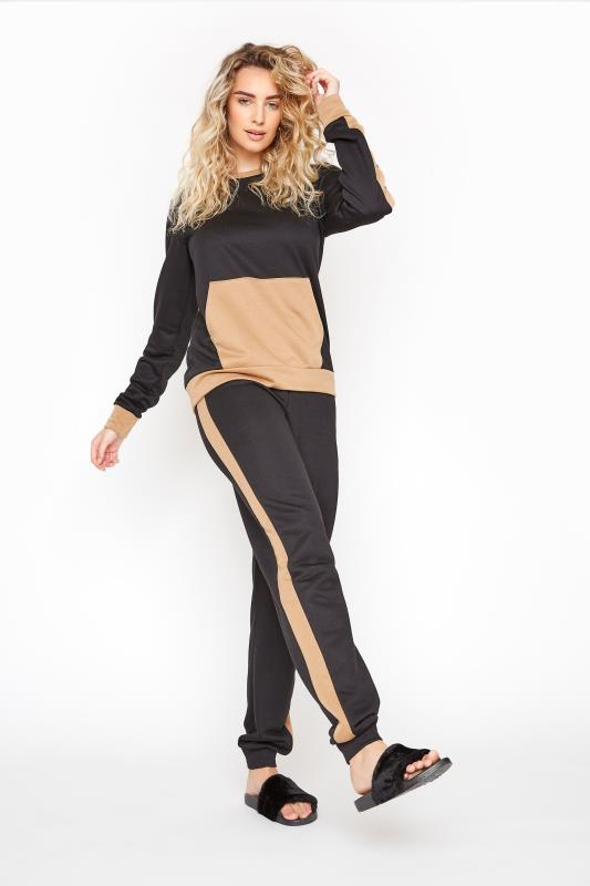 Tall  LTS Black Tape Co-ord Joggers