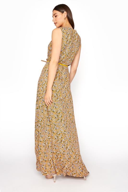 LTS Yellow Ditsy Sleeveless Fitted Maxi Dress_C.jpg