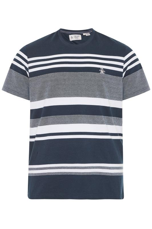 Plus Size  PENGUIN MUNSINGWEAR Navy Stripe T-Shirt