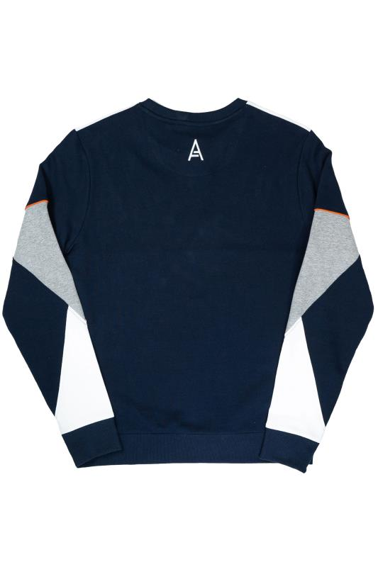 STUDIO A Navy & Grey Colour Block Sweatshirt