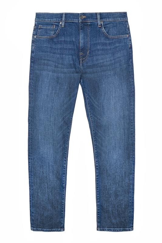 Men's  BEN SHERMAN Blue Straight Leg Denim Jeans