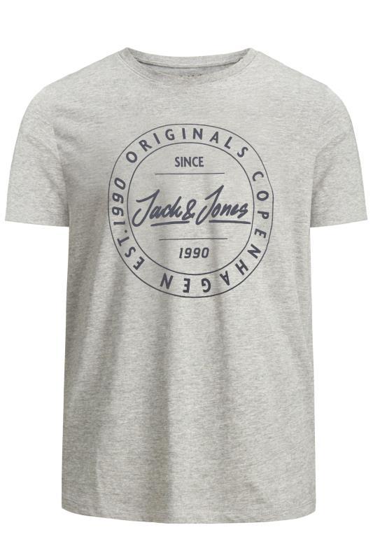 JACK & JONES Grey Move Logo T-Shirt