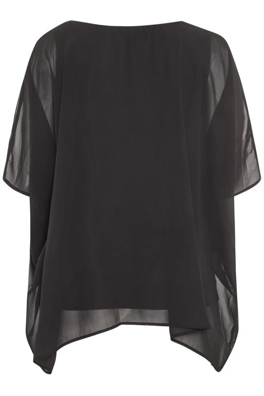 YOURS LONDON Black Daisy Embroidered Cape Top_BK.jpg