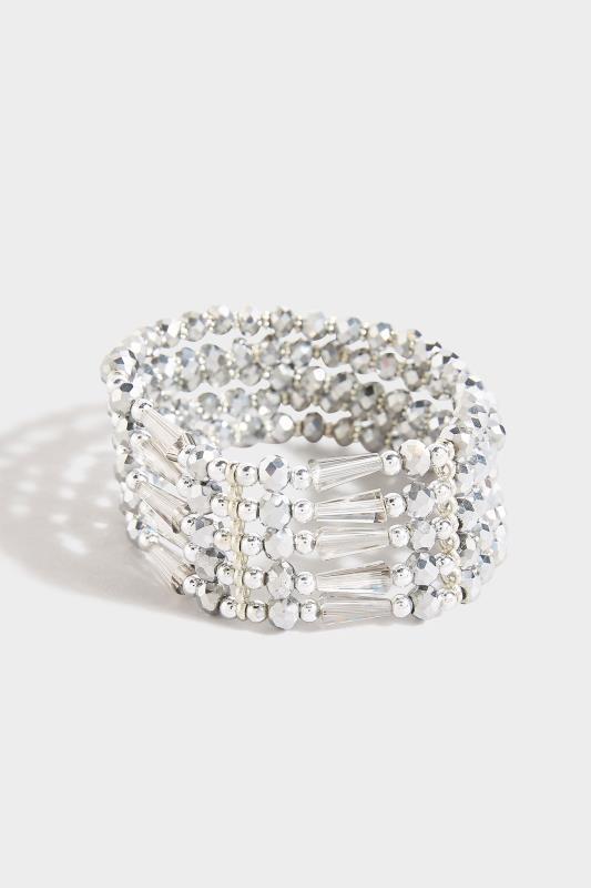 Silver Stone Cuff Stretch Bracelet_A.jpg