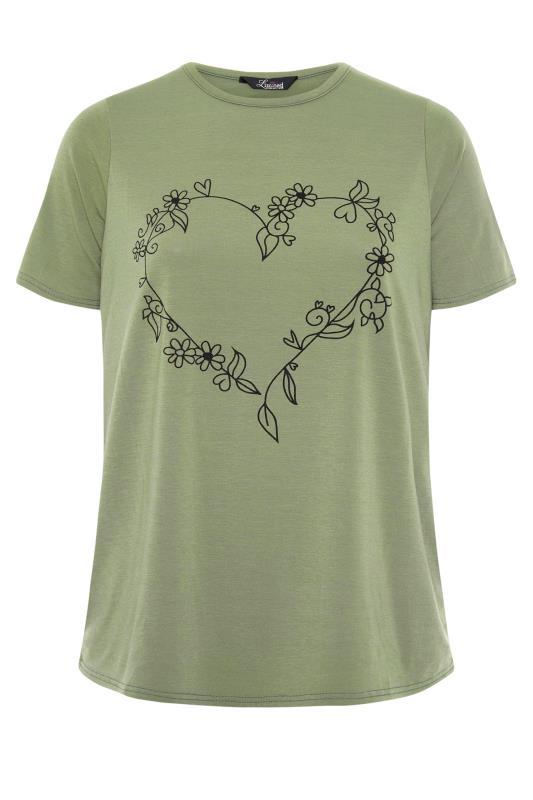 LIMITED COLLECTION Khaki Heart Print T-Shirt_F.jpg