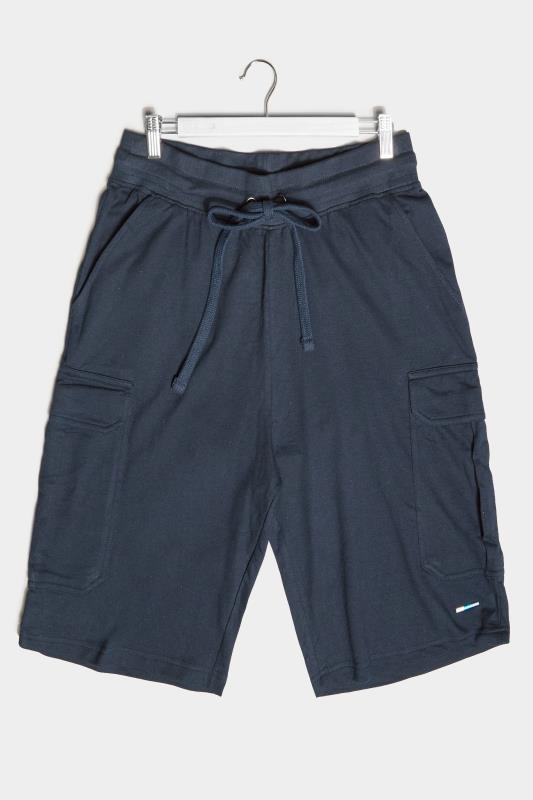 Men's  BadRhino Navy Essential Cargo Jogger Shorts