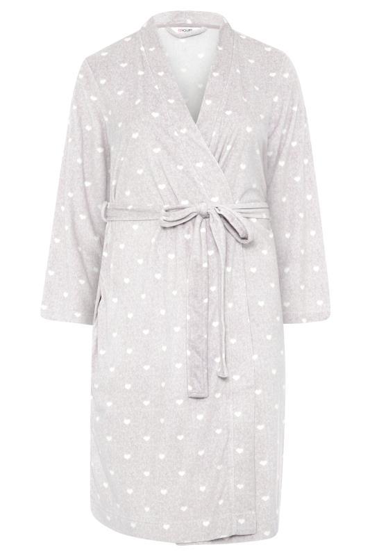 Grey Flannel Fleece Heart Dressing Gown_F.jpg