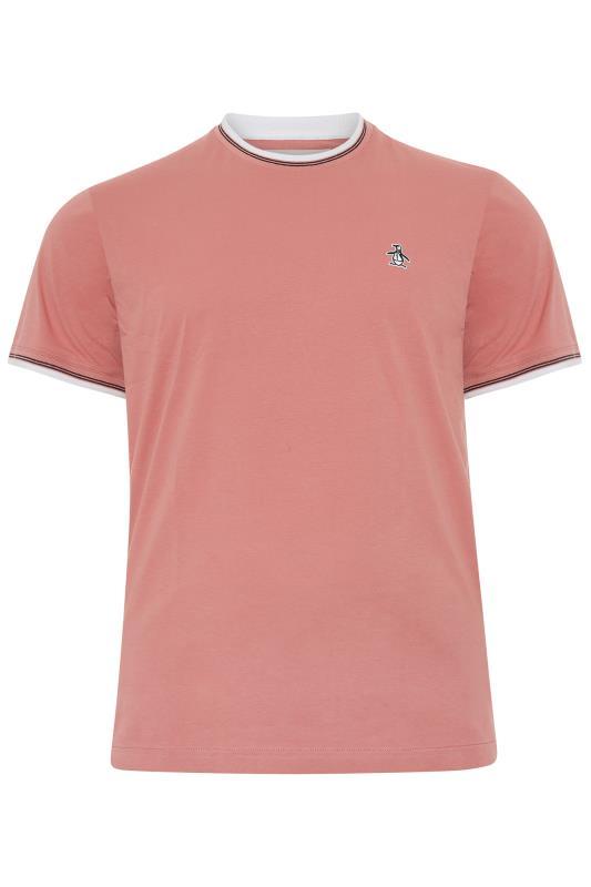 Men's  PENGUIN MUNSINGWEAR Pink Contrast Ringer T-Shirt