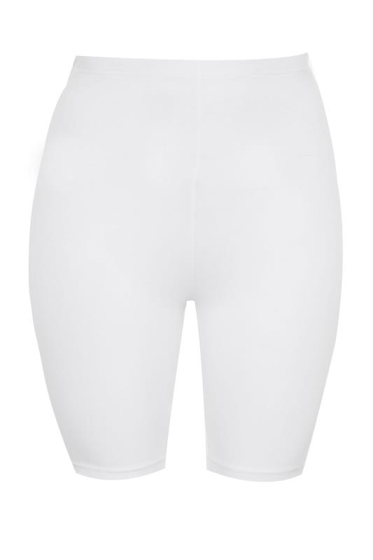 SUSTAINABLE White Organic Cotton Cycling Shorts_F.jpg