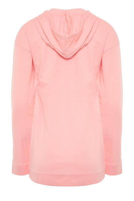 LTS Coral Pink Zip Through Hoodie_BK.jpg