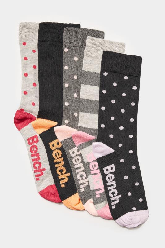 BENCH 5 Pack Multi Patterned Crew Socks