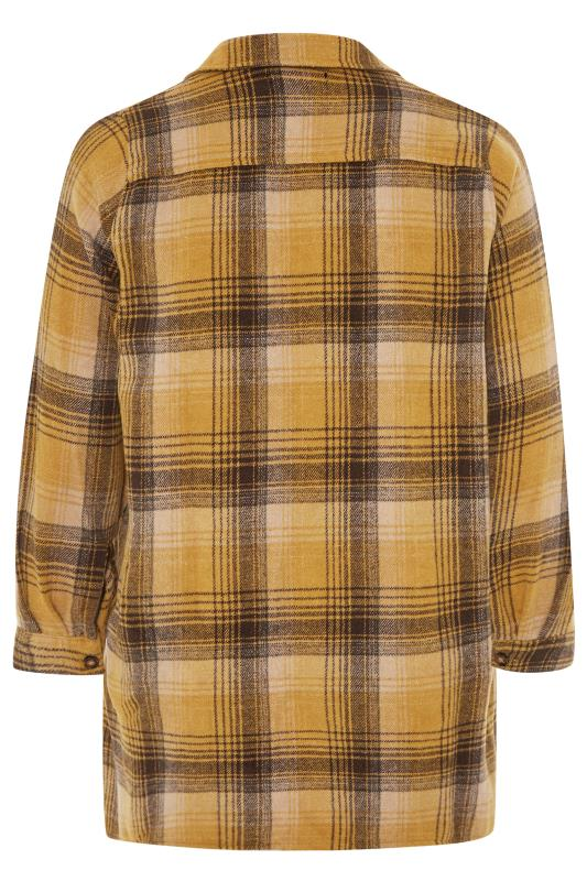 LIMITED COLLECTION Mustard Yellow Check Shacket