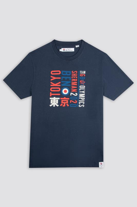 Plus Size  BEN SHERMAN Navy Official Olympic Typography T-Shirt