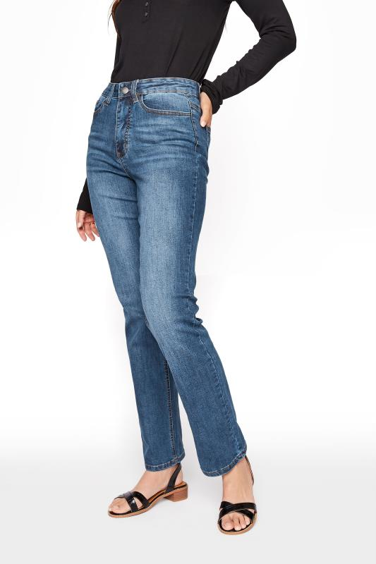 Mid Blue Straight Leg Denim Jeans