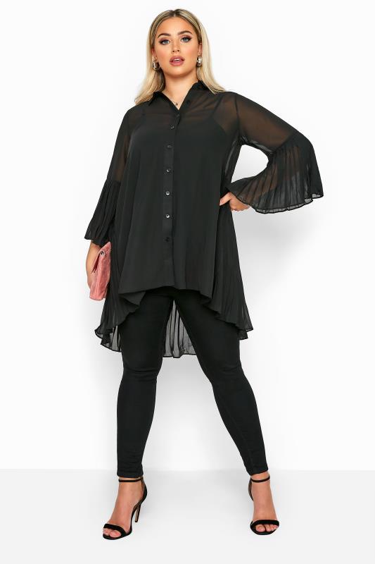 Black Pleated Longline Shirt_B.jpg