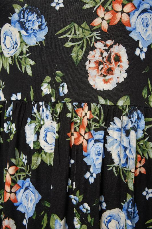 Black Pocket Floral Midaxi Dress_S.jpg
