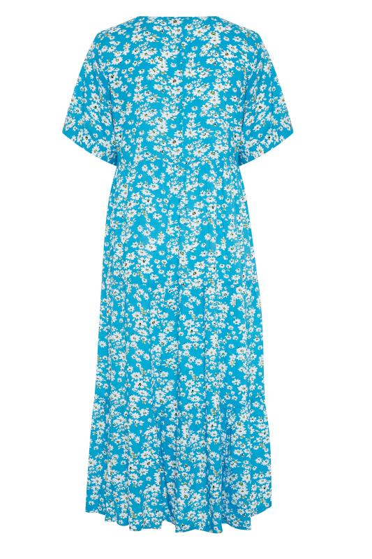 LIMITED COLLECTION Blue Daisy Tiered Smock Dress_BK.jpg