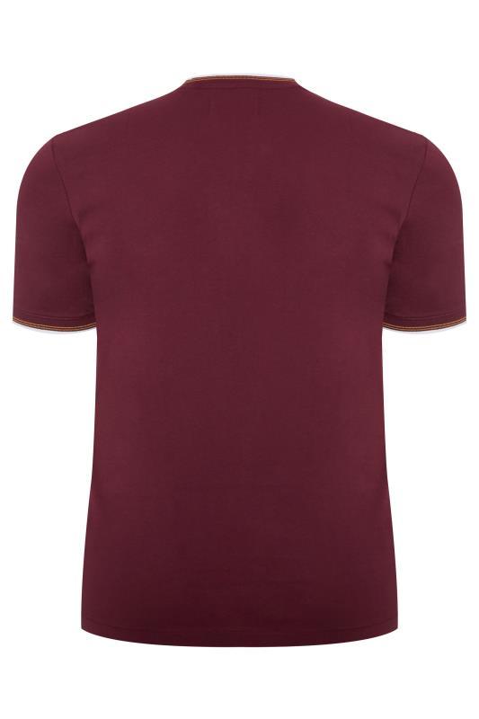 PENGUIN MUNSINGWEAR Burgundy & White Contrast Ringer T-Shirt