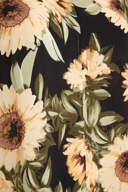 Black Sunflower V-Neck Shift Dress_S.jpg