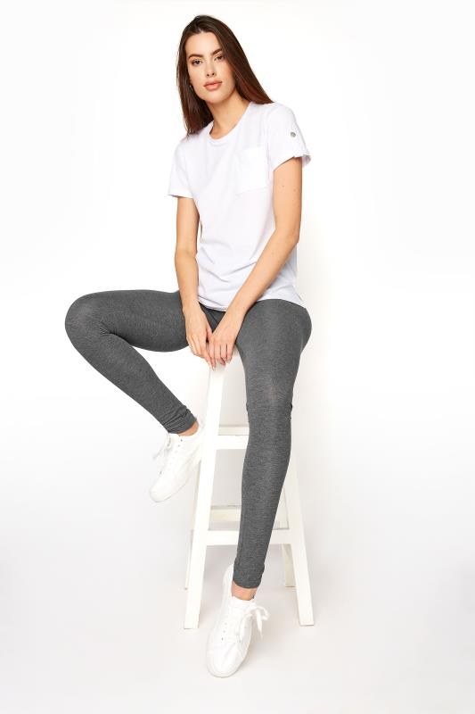 Tall  LTS SUSTAINABLE Grey Marl Recycled 'Lenzing' Viscose Leggings