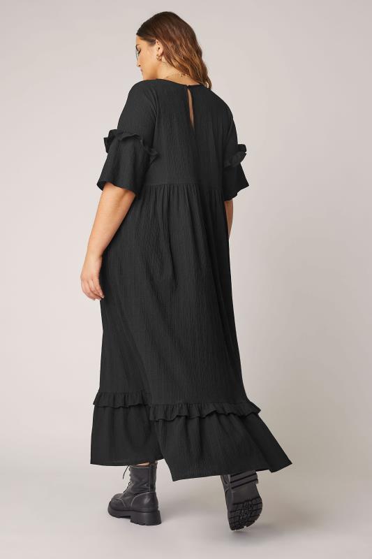 THE LIMITED EDIT Black Smock Midaxi Dress_C.jpg