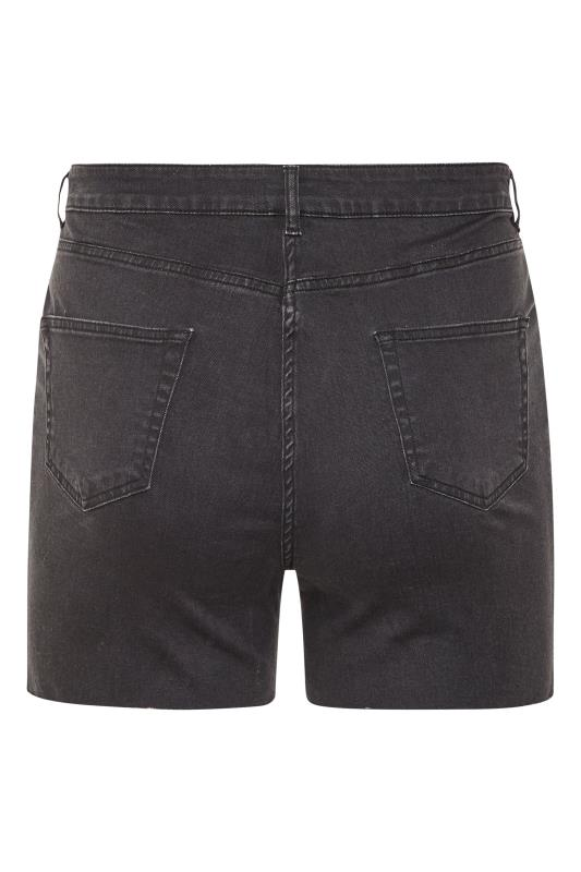 Black Cut Off Distressed Denim Shorts_BK.jpg