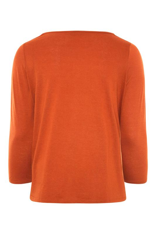 Burnt Orange Scoop Neck T-Shirt_BK.jpg