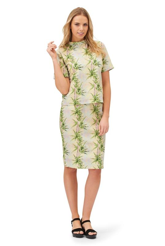 Ruby Rocks Tropical Print Pencil Skirt